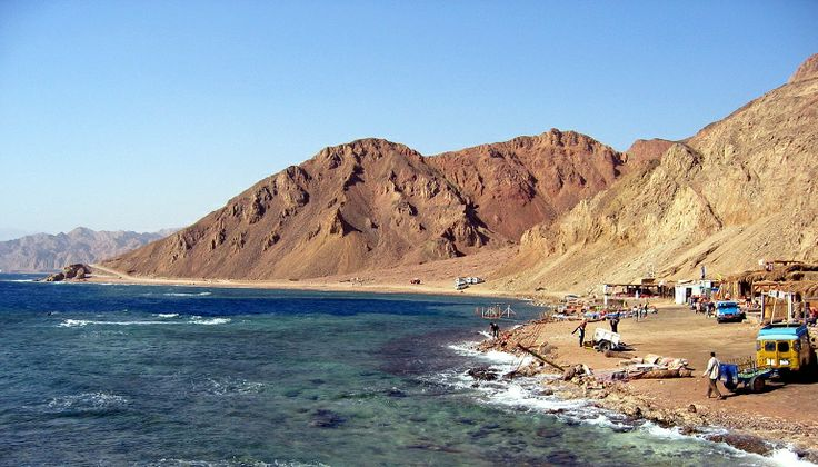 Vakakantie Dahab Egypte - Blue hole strand