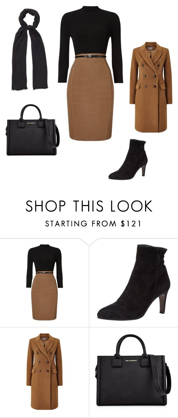 """Stylish Fall Career Wear"" by ginny-yei on Polyvore featuring Phase Eight and Karl Lagerfeld"