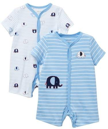 22abbf5dc996 Little Me Elephant Rompers - 2-Piece Set (Baby Boys)