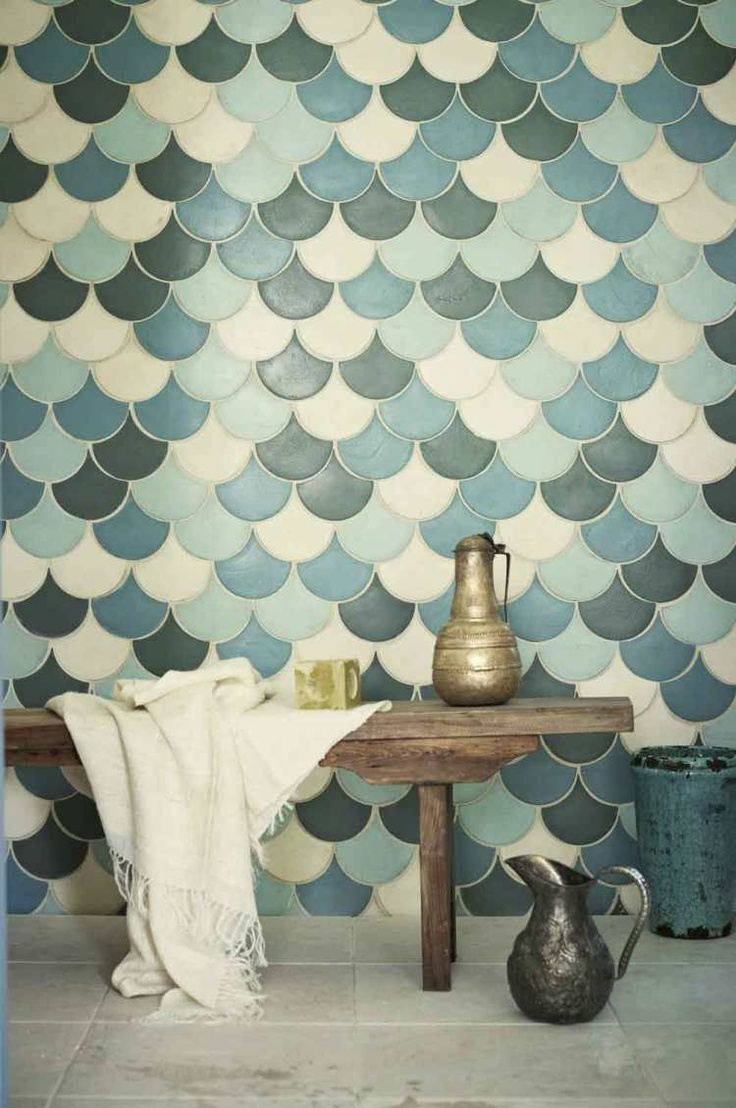 for my beach house of course...Fish scale tiles