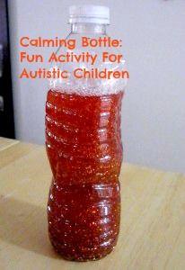 Fun Activity For Autistic Children:  Calming Bottle