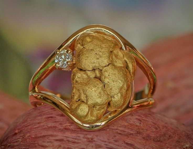 158 best Gold Nugget Rings Women images on Pinterest Diamond