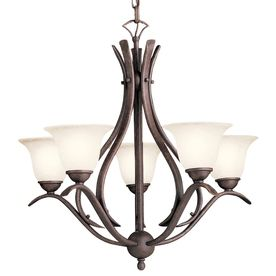 Over Dining room table Portfolio 5 light tannery bronze
