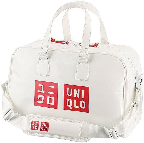 New Novelty Rare UNIQLO Kei Nishikori Model Tennis Enamel Boston Bag white Japan #Uniqlo