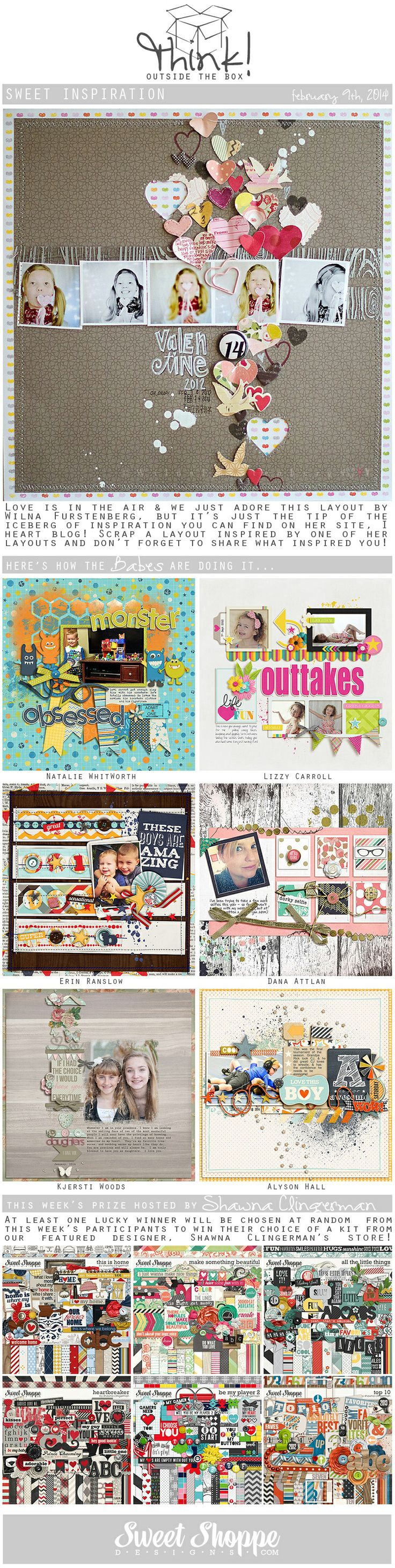 Looking for a fresh new take on a scrap challenge? Check out Sweet Shoppe Designs' Think Outside The Box challenge for February 9th and scrap along for your chance to win a kit from our Featured Designer's store and to start earning discounts every month!