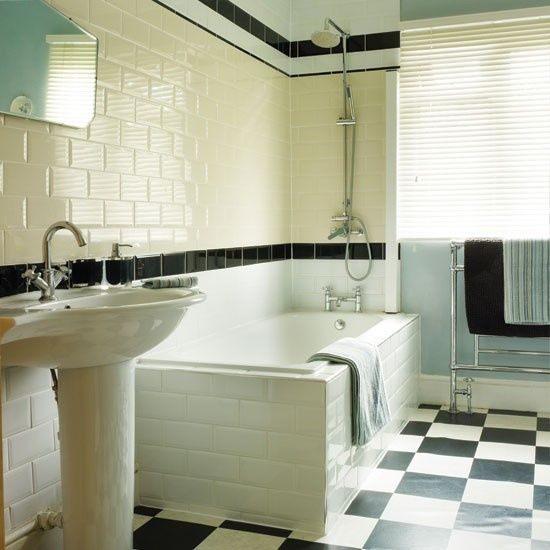 17 best decorating around old school bathroom tile images for Bathroom ideas 1950s