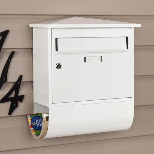 Elegant Castle Locking Wall Mount Mailbox With Newspaper Roll
