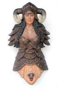 From Jolly roger. 4FT TALL 3D 'FEMALE VIKING' SHIPS FIGUREHEAD MADE FROM POLY RESIN AND FIBREGLASS