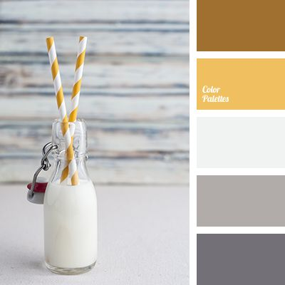 brown, color of milk, color palette, color solution, gray-pink, gray-pink shades, off-white, saffron yellow, selection of color, shades of gray, warm yellow, Yellow Color Palettes.