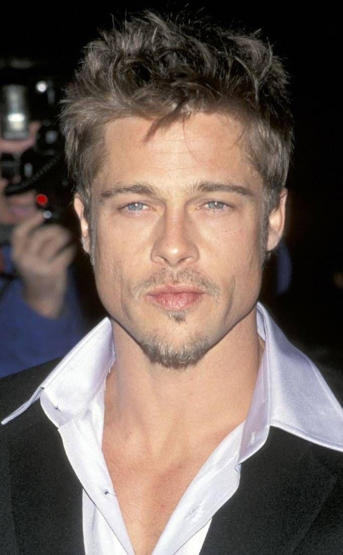 1990 From Brad Pitt S Hair Through The Years E Online Brad Pitt Brad Pitt Hair Brad Pitt And Jennifer