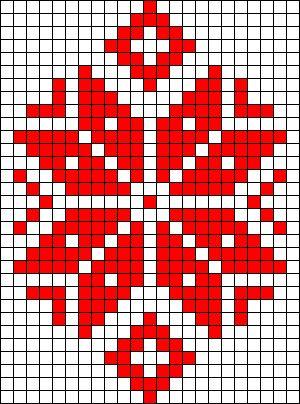 Winter flower perler bead pattern