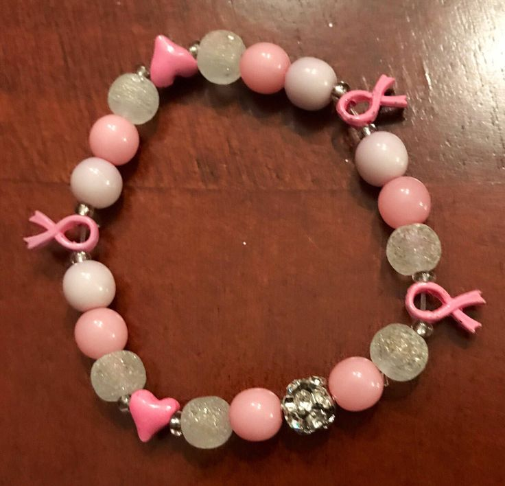 Excited to share the latest addition to my #etsy shop: Breast Cancer Awareness Bracelets