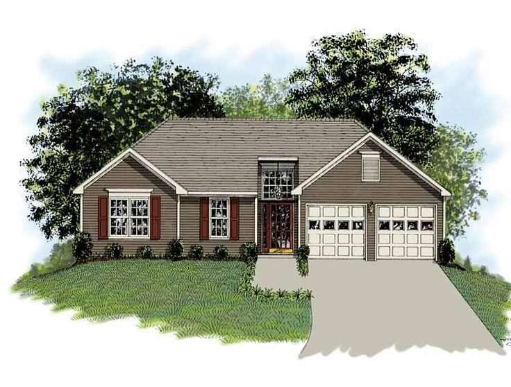 Eplans ranch house plan attention to essentials 1093 for Ranch house plans with basement 3 car garage