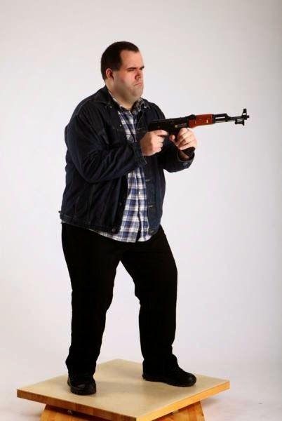 3D human referenses: Redneck AK Aiming