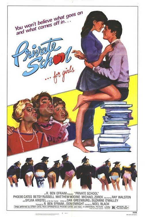 Private School...for girls (1983)...HA HA...LOVE THE THEME SONG....!..THIS WAS THE ULTIMATE TEN MOVIE FOR GUYS TO WATCH BACK THEN...IT BECAME A TRADITION WATCH THIS MOVIE EVERY YEAR