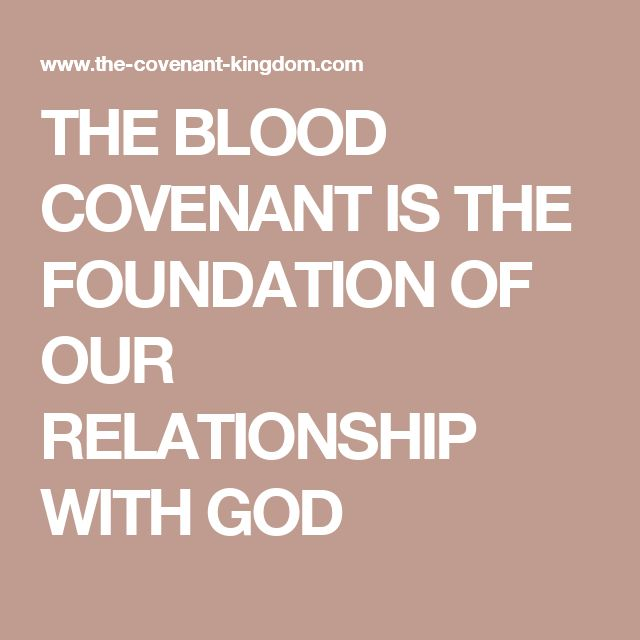 Blood covenant in relationships