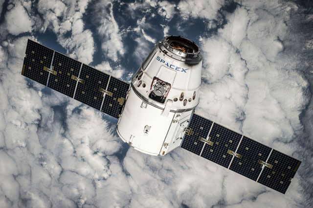 SpaceX Dragon will make its sixth flight with unmanned cargo ship to the International Space Station. Almost a routine flight. What won't be so routine  is the revolutionary rocket tech Elon Musk plans. The rocket's first stage will turn around fly itself back to earth and land on a platform floating in the Atlantic ocean.
