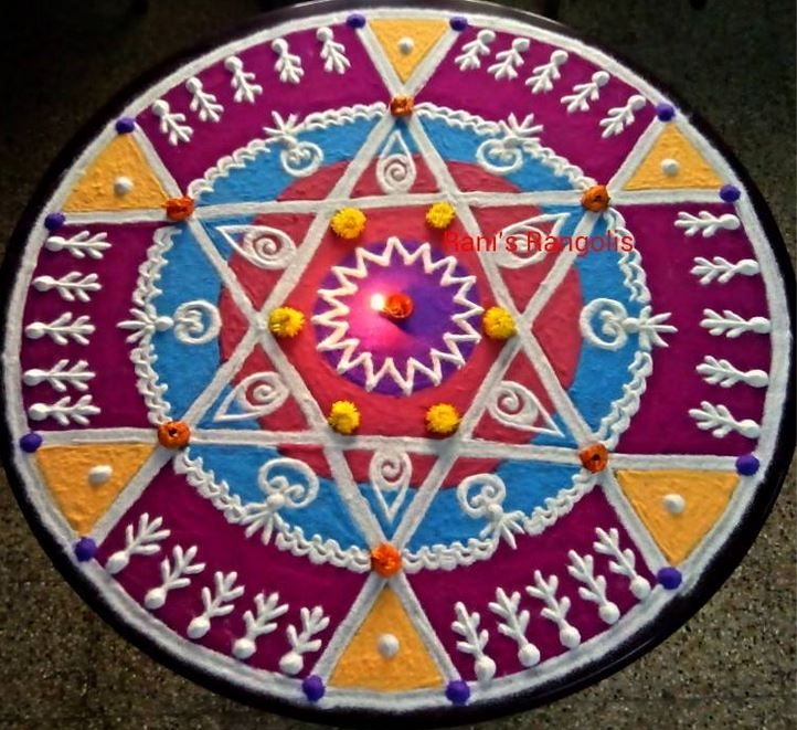 Easy Kolam Rangoli Designs for Ugadi