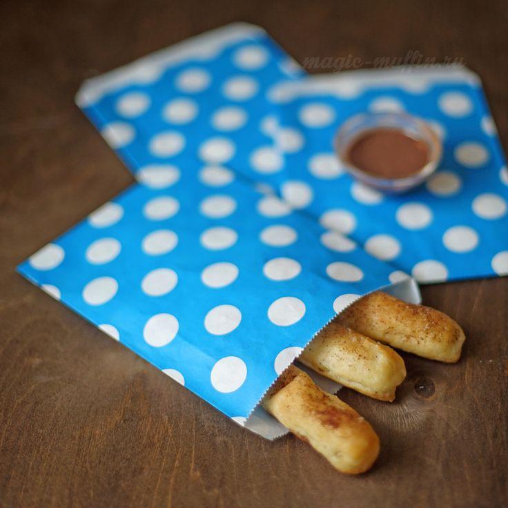 Бумажный пакетик: синий в горох cookies wrapping, cookies bag, cookies box