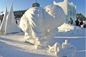 Quebec Carnaval - Ice sculpture