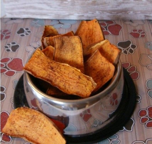 dolcetti autunnali per cani fatti con patate dolci