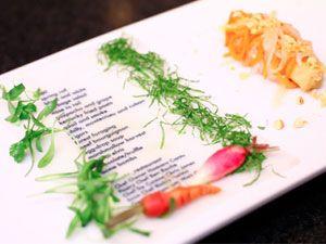 Moto Restaurant - edible menu