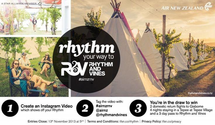 Air New Zealand Flying Social - Rhythm Your Way to Rhythm and Vines