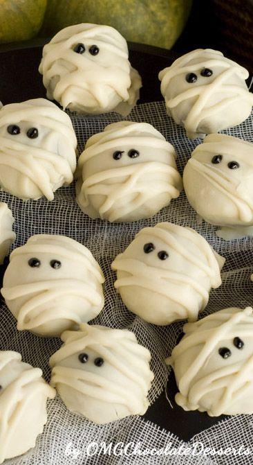 White Chocolate Mummy Truffles. ➡ So cute !!! :D