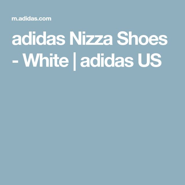 adidas Nizza Shoes - White | adidas US