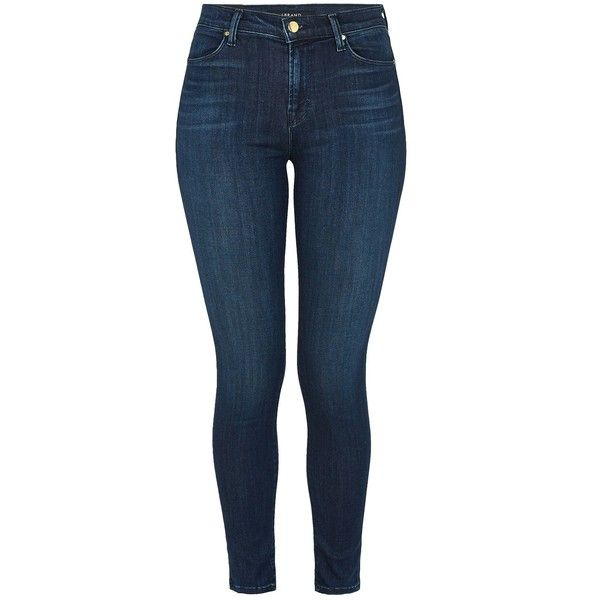 J BRAND Maria High Rise Skinny Jean ($300) ❤ liked on Polyvore featuring jeans, pants, fix, high waisted jeans, skinny jeans, dark denim jeans, blue skinny jeans and skinny fit jeans