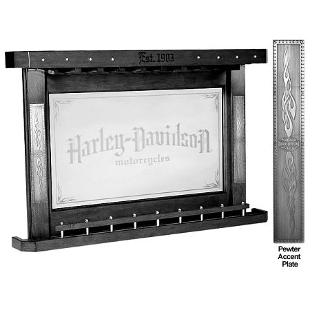 Harley Davidson Bar And Shield Flames Back Bar W Vintage Black Finish Man Cave Ideas