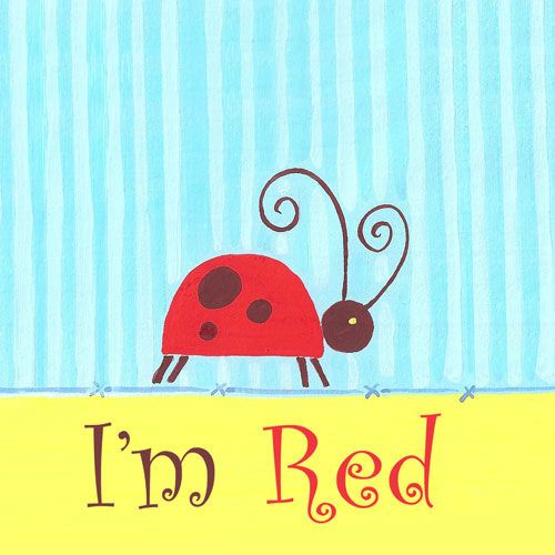 Color Art: Little Red Ladybug Wall Art from PoshTots  #PoshTotsNursery: Wall Art, Colors Wall, Red, Color Walls, Canvas, Ladybugs, Baby, Art For Kids