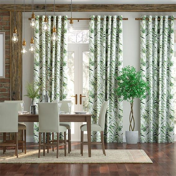 Around 500 Whole Wall With Blackout Kentia Linen Leaf Curtains Leaf Curtains Dining Room Curtains Curtains #patterned #curtains #living #room