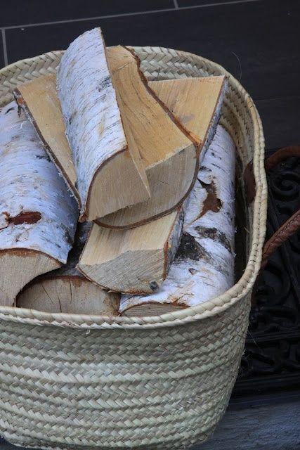 Berkenhout is uitermate herkenbaar aan de witte bast #openhaardhout#haardhout