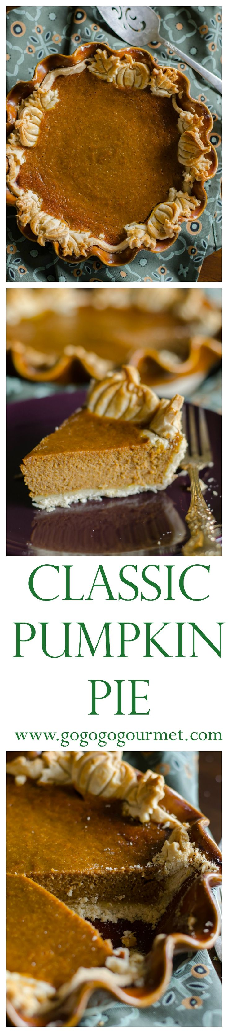 No reason to gussy up pumpkin pie- this classic pumpkin pie is best! | Go Go Go Gourmet @gogogogourmet