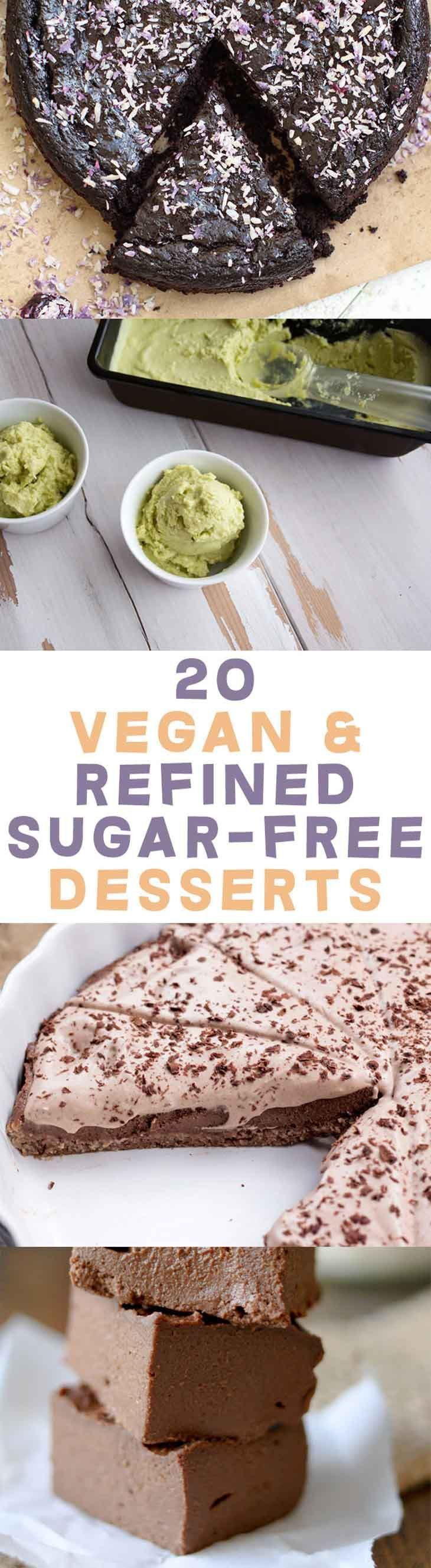 20 Vegan and Refined Sugar-Free Desserts | Ditch the white sugar! | ElephantasticVegan.com