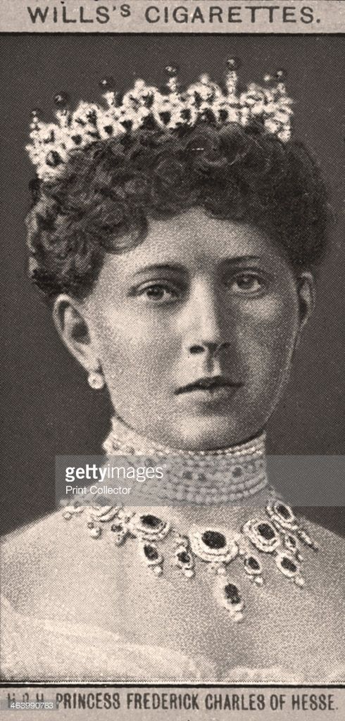 Princess Frederick Charles of Hesse, 1908. Portraits of European Royalty, Wills's Cigarette Cards, Bristol & London.