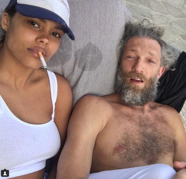 Vincent Cassel with girlfriend Tina Kunakey, Spain, July-August, 2016
