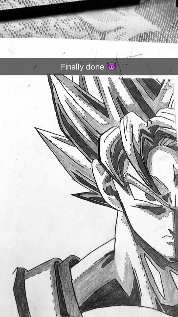 Goku sketching