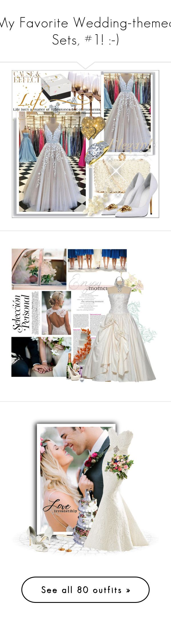 """My Favorite Wedding-themed Sets, #1! :-)"" by vahrendsen1988 ❤ liked on Polyvore featuring GUESS by Marciano, Versace, Disney, WALL, Envi:, Fergie, Lancôme, Perrier-JouÃ«t, Yves Saint Laurent and Tom Binns"