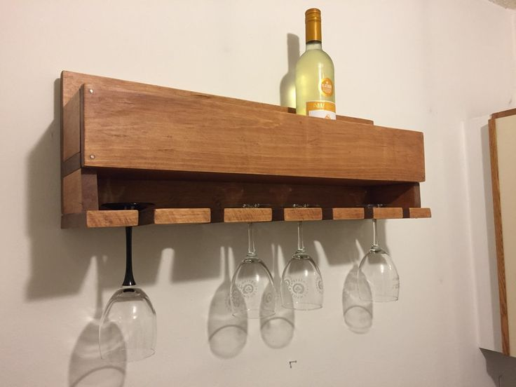Built a wine rack for our first project : woodworking