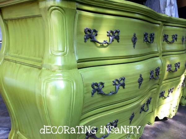 Well, it's painting wood...inspiration files--green dresser from decorating insanity--after   Nice!