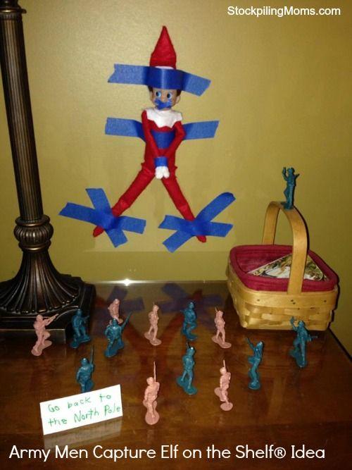 Army Men Capture Elf on the Shelf® Idea