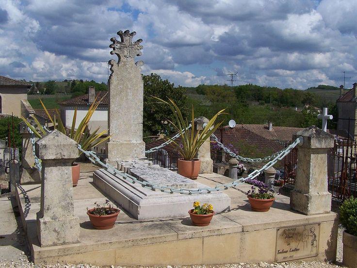 Могила Анри де Тулуз-Лотрека в Verdelais, Жиронда, Франция.