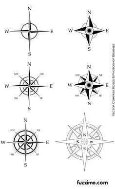 Image result for compass tattoo flash