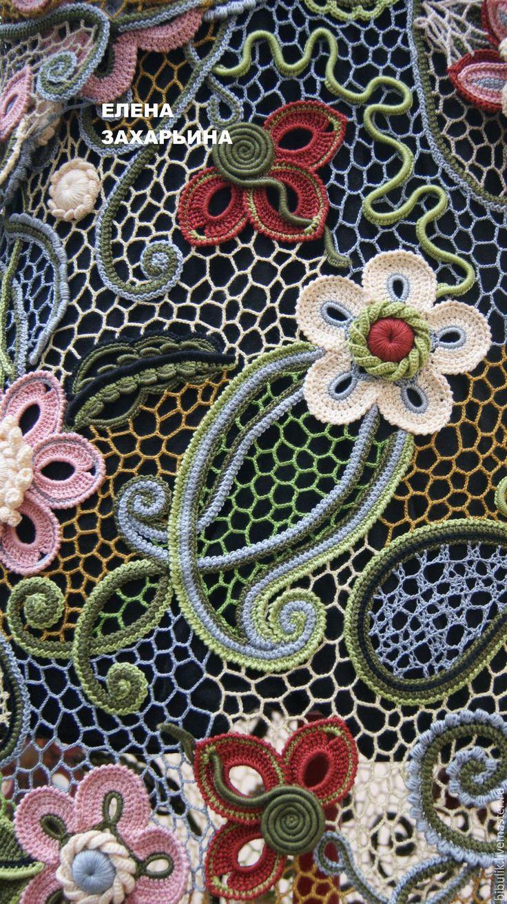 """Купить Платье """"Лесная фея"""". Модель 2. - комбинированный, цветочный, ирландское кружево"""