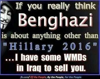 "That's why it doesn't matter what facts are presented, this Benghazi thing will be talked about on Fox News until January 20, 2017, when Hillary takes office. This is the tried-and-true practice of ""Swiftboating"" on display, just like the furor over Obama's birth certificate.  Anyone gullible enough to believe the lies will be outraged."