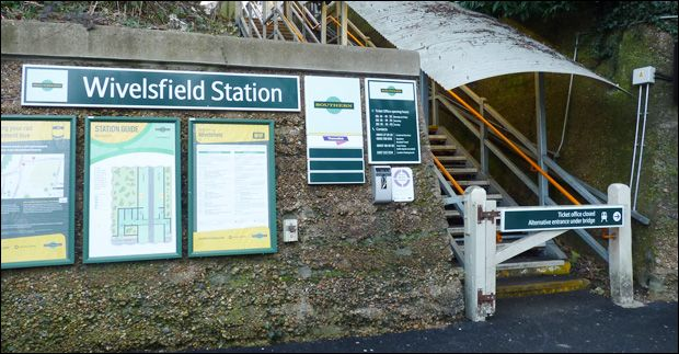 Wivelsfield Railway Station (WVF) in East Sussex, East Sussex