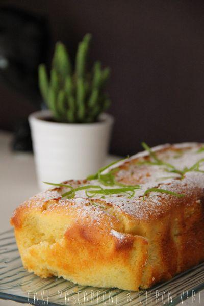 Cake Mascarpone & Citron Vert. Alors là pour être moelleux, je vous certifie que ce cake au citron, l'est. Aérien, léger en bouche ... Et citronné à souhait,...