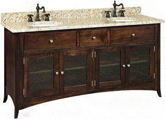 Oak Lakeshore 72 Vanity Cabinet
